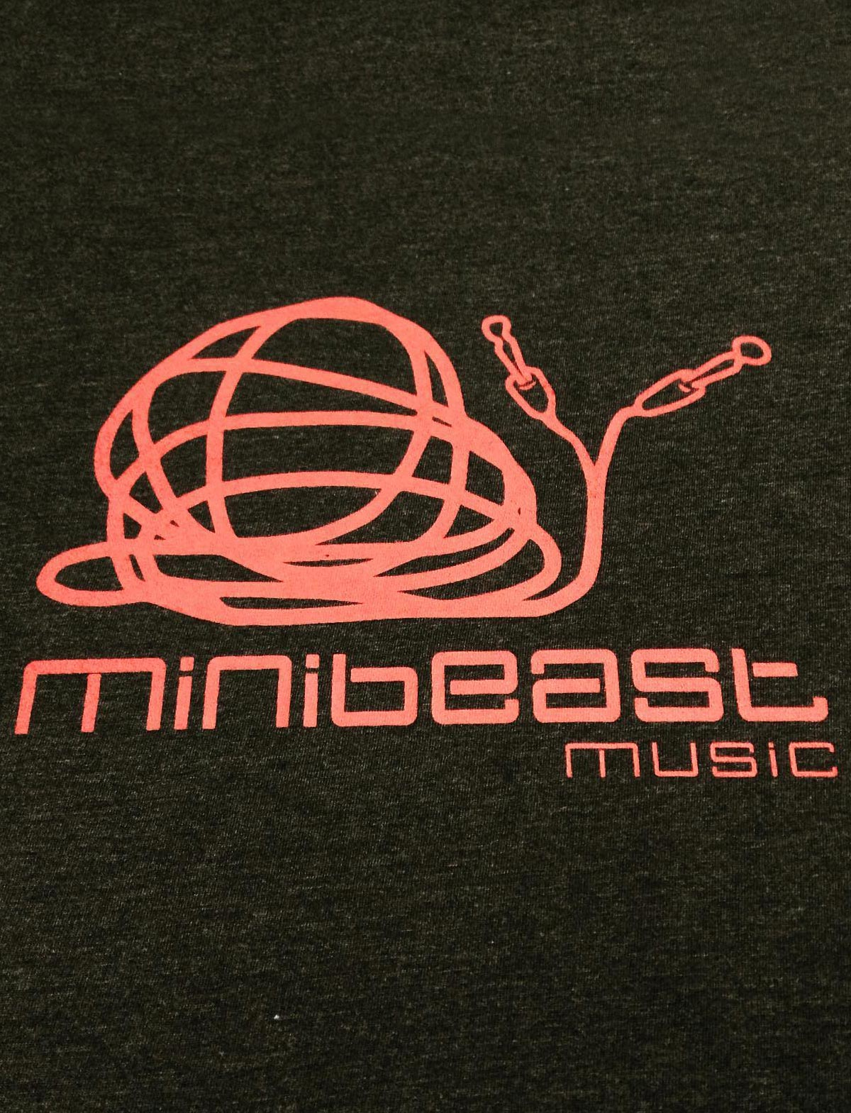 minibeast music studio, organic black t-shirt